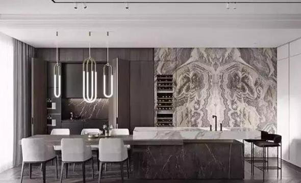 轻奢新中式风木饰面板定制案例